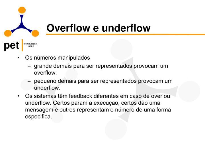 Overflow e underflow