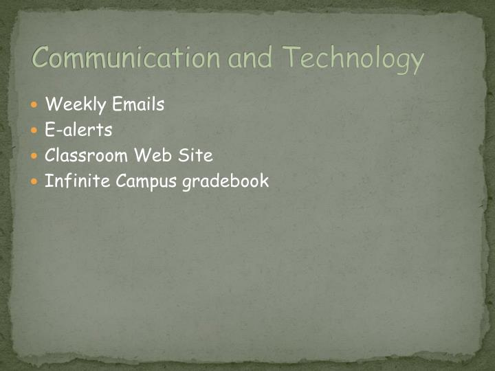 Communication and Technology