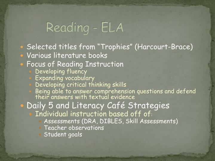 Reading - ELA