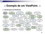 exemplo de um viewpoint 1