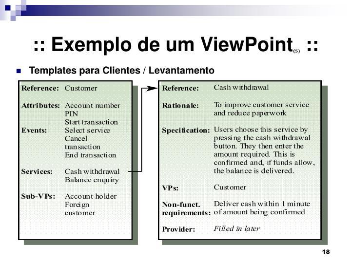 :: Exemplo de um ViewPoint