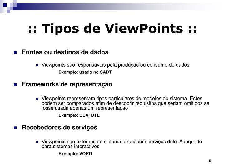 :: Tipos de ViewPoints ::