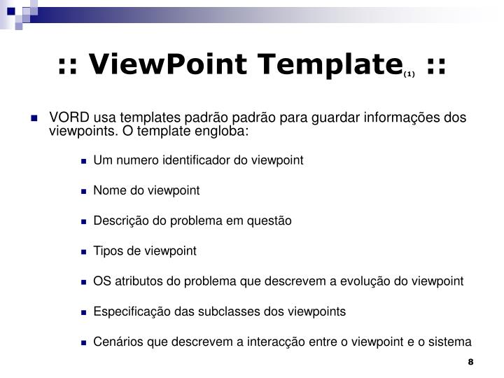 :: ViewPoint Template