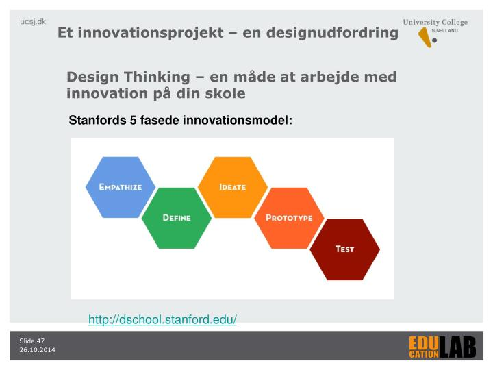 Et innovationsprojekt – en designudfordring