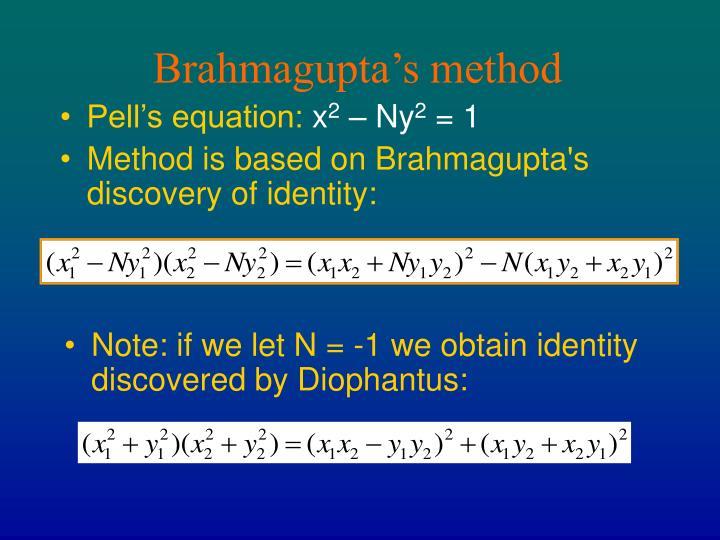 Brahmagupta's method