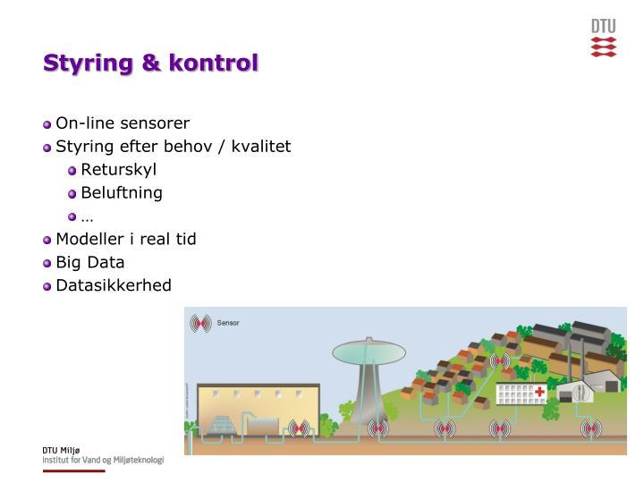 Styring & kontrol