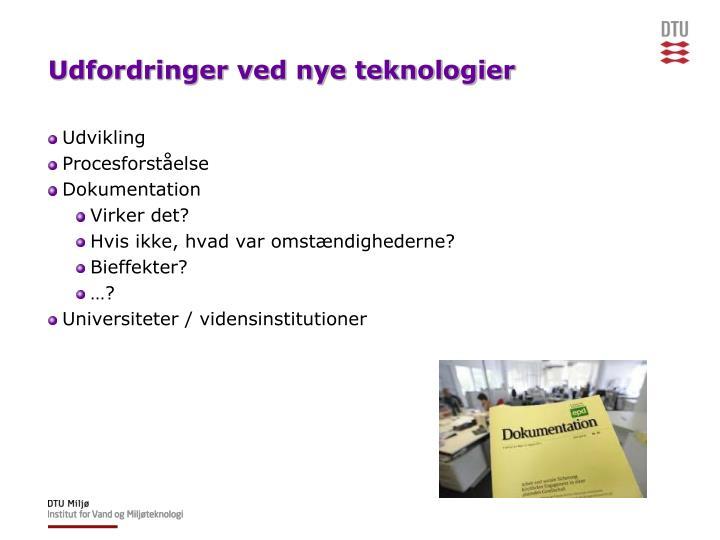 Udfordringer ved nye teknologier