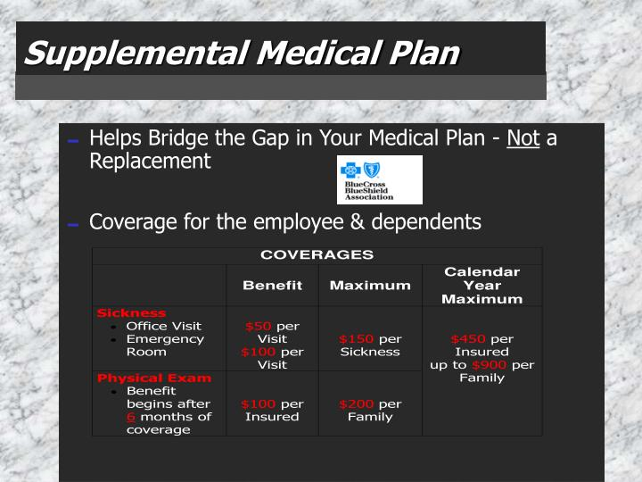 Supplemental Medical Plan