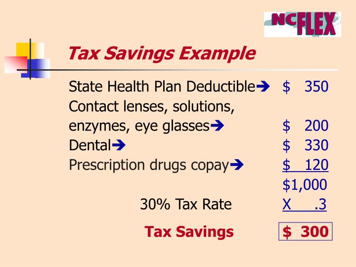 Tax Savings Example