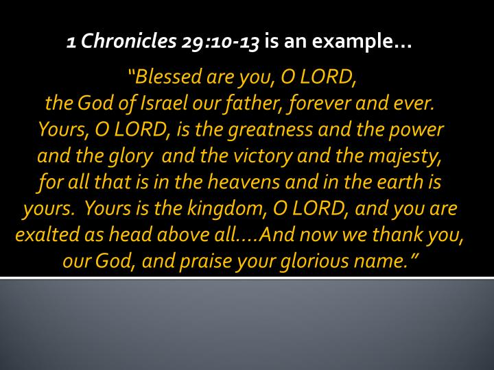 1 Chronicles 29:10-13