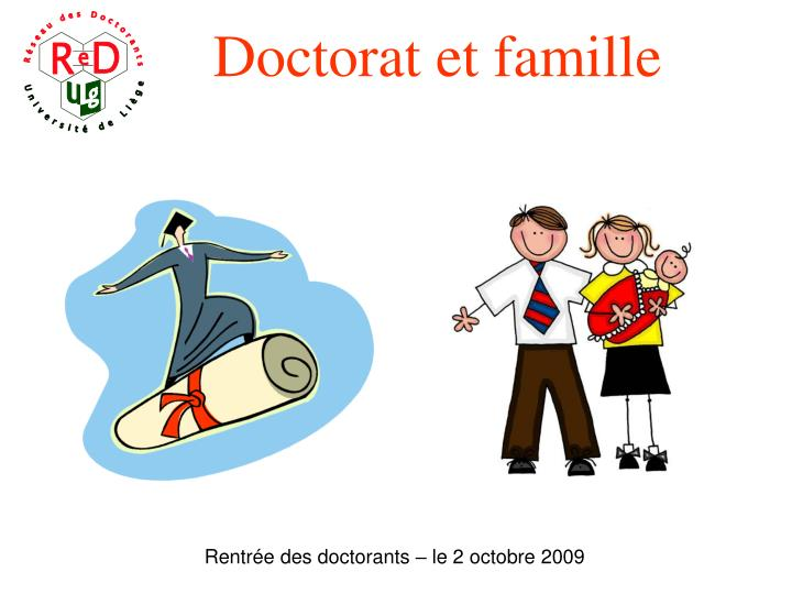 Doctorat et famille