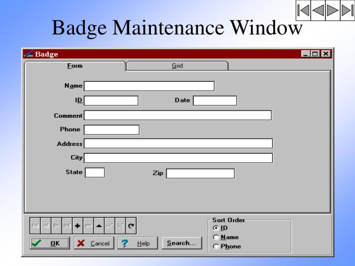 Badge Maintenance Window