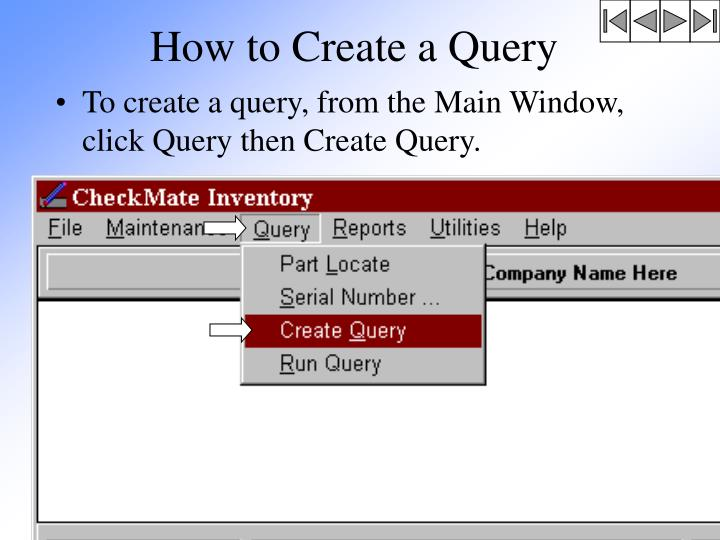 How to Create a Query