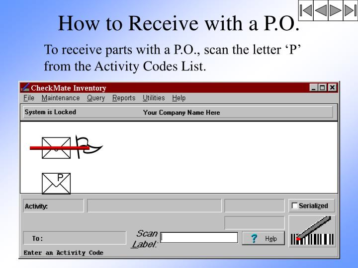 How to Receive with a P.O.