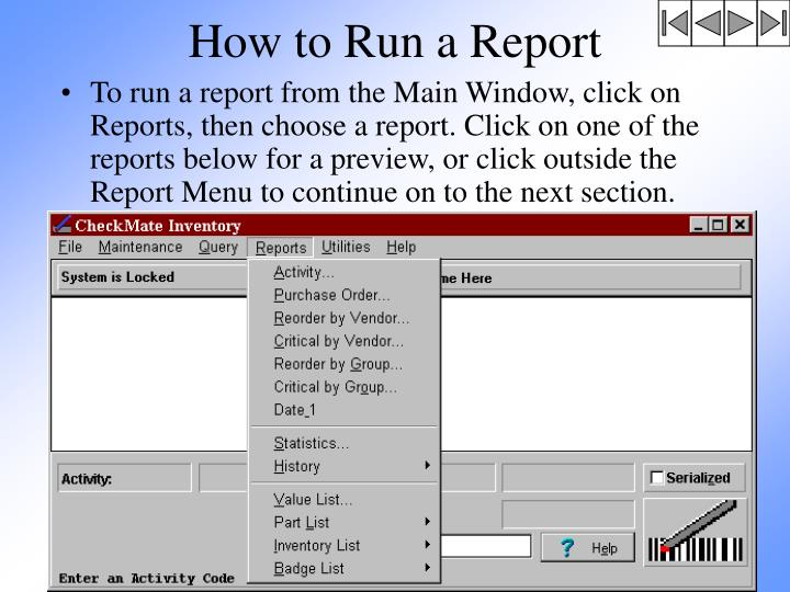 How to Run a Report