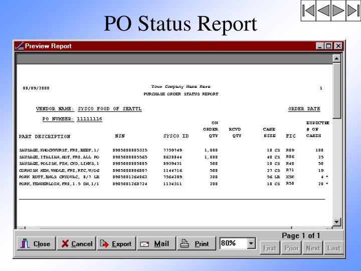PO Status Report