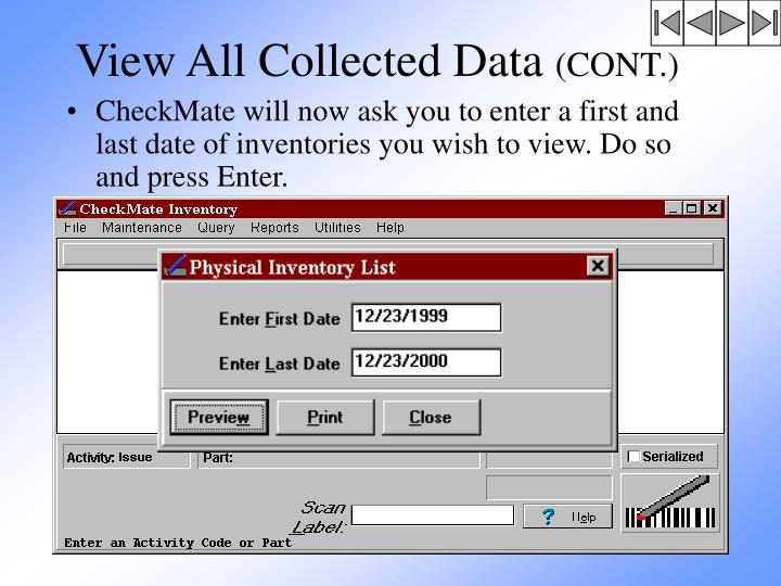 View All Collected Data