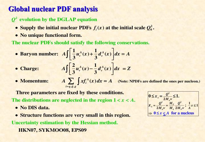 Global nuclear PDF analysis