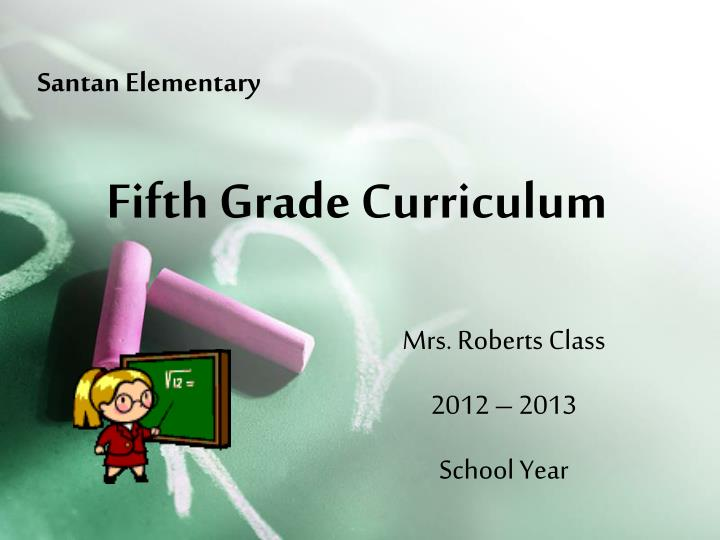 Fifth grade curriculum