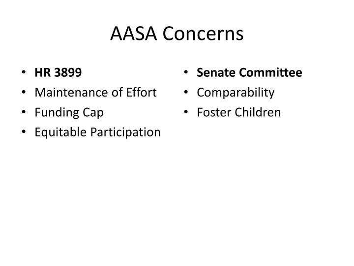 AASA Concerns