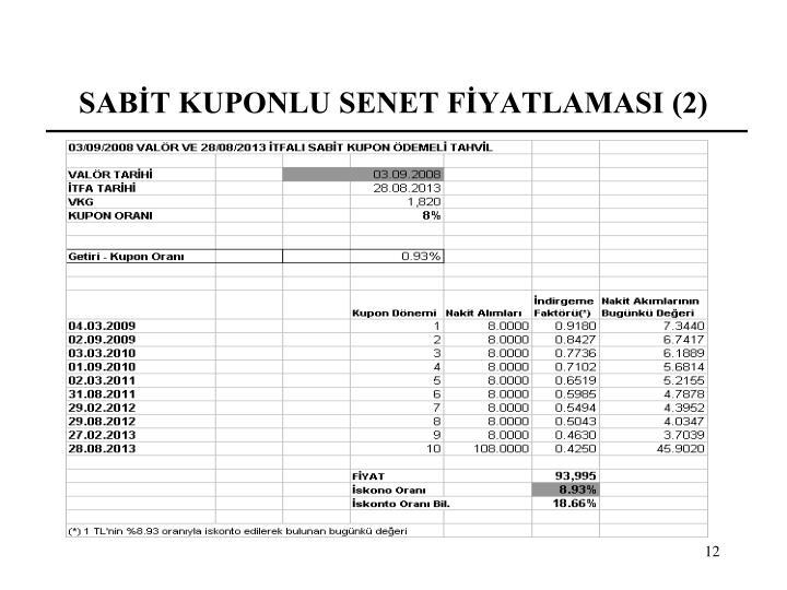 SABİT KUPONLU SENET FİYATLAMASI (2)