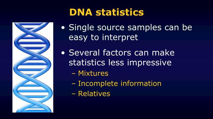 DNA statistics