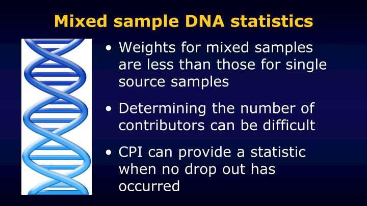 Mixed sample DNA statistics