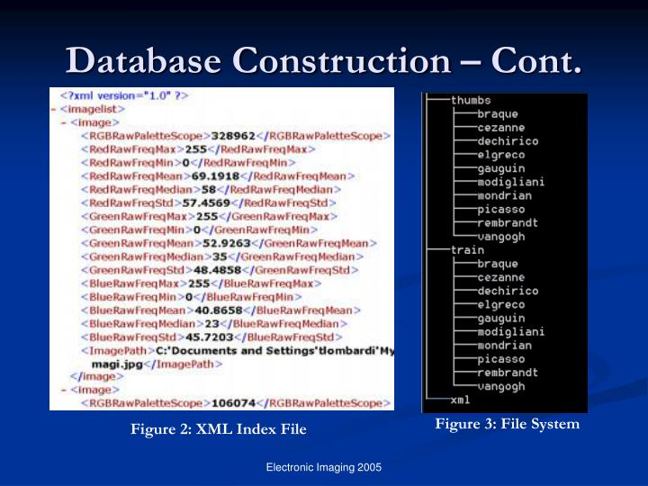 Database Construction – Cont.