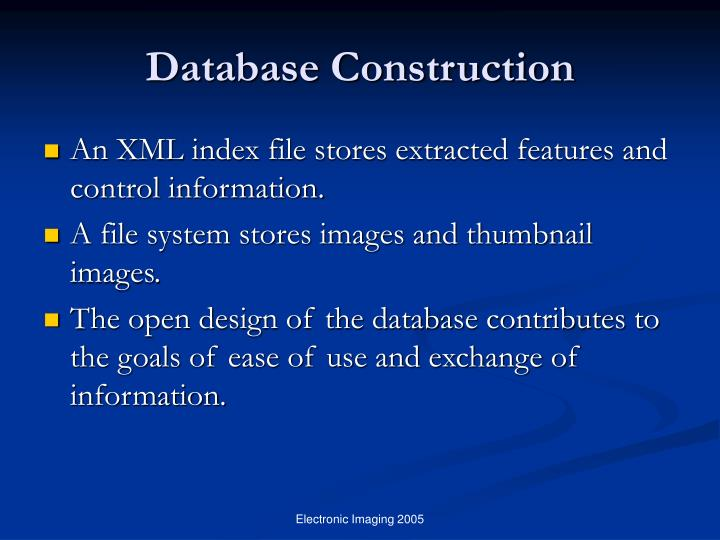 Database Construction