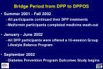 bridge period from dpp to dppos