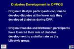 diabetes development in dppos