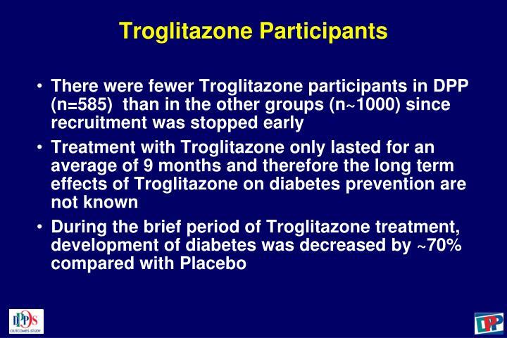 Troglitazone Participants