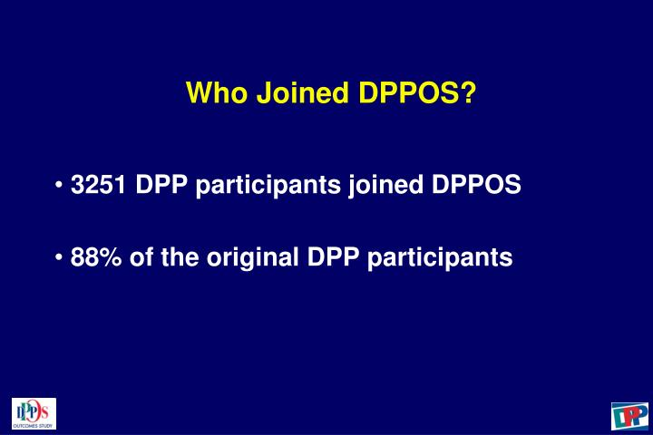 Who Joined DPPOS?