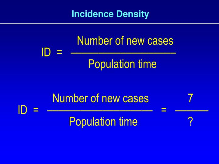 Incidence Density