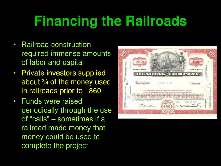 Financing the Railroads