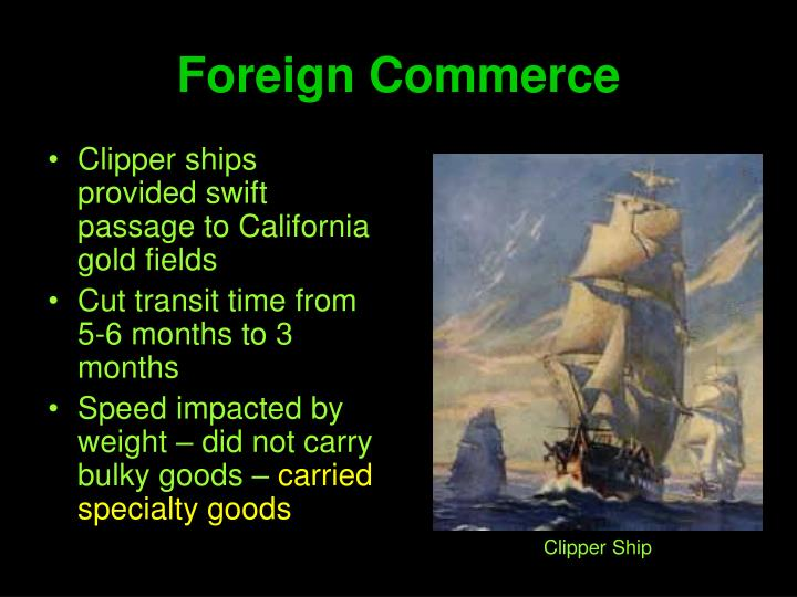 Foreign Commerce