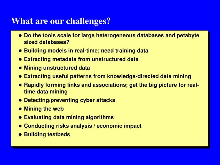 What are our challenges?