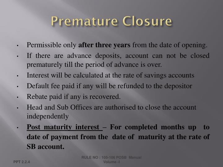 Premature Closure