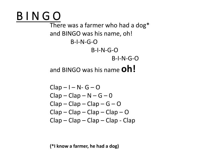 B I N G O