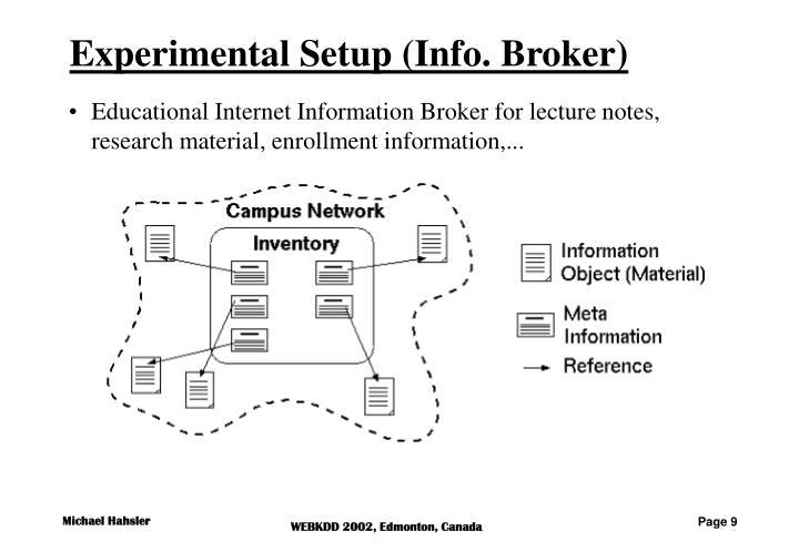 Experimental Setup (Info. Broker)