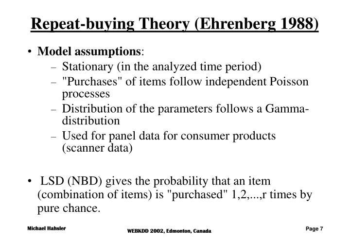 Repeat-buying Theory (Ehrenberg 1988)