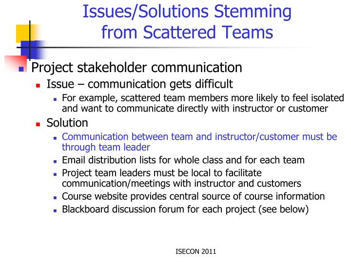 Issues/Solutions Stemming