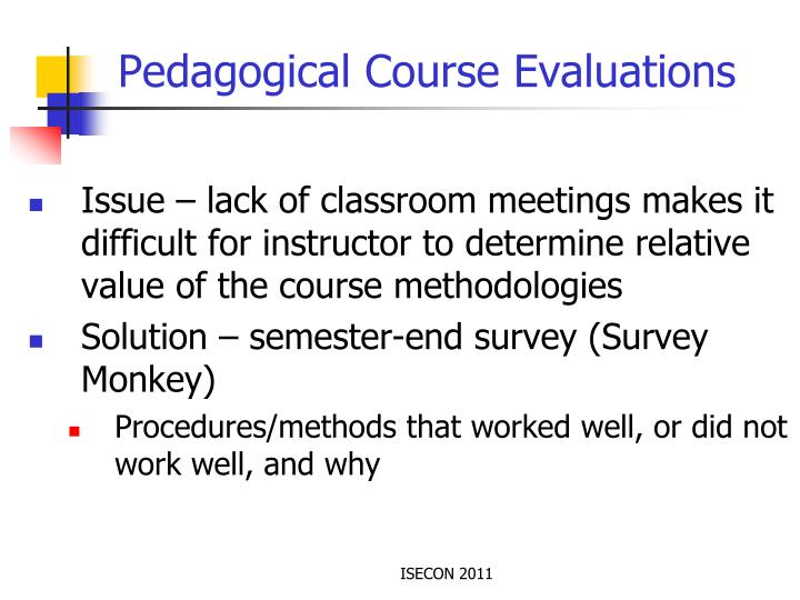 Pedagogical Course Evaluations
