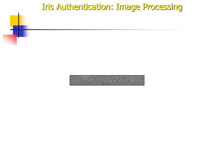 Iris Authentication: Image Processing