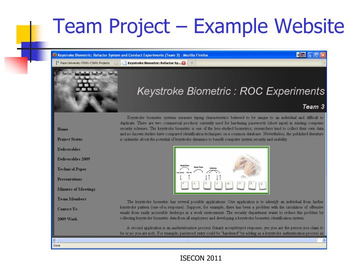 Team Project – Example Website