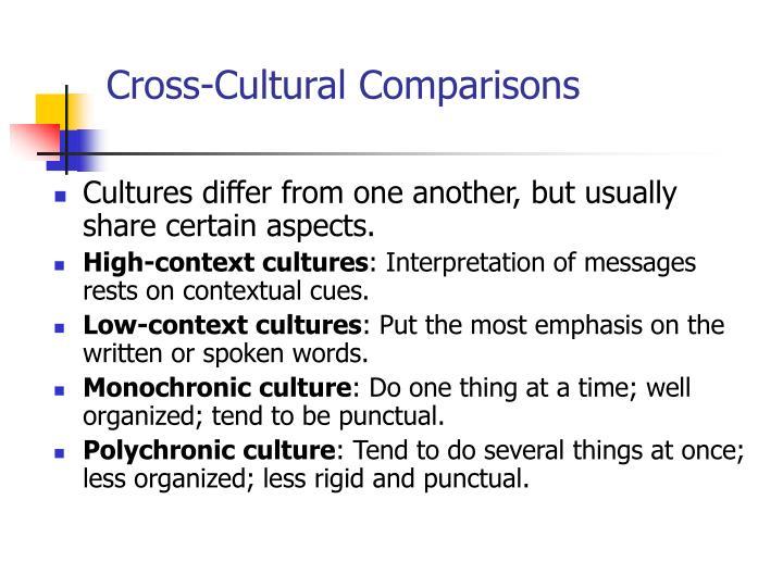 Cross-Cultural Comparisons