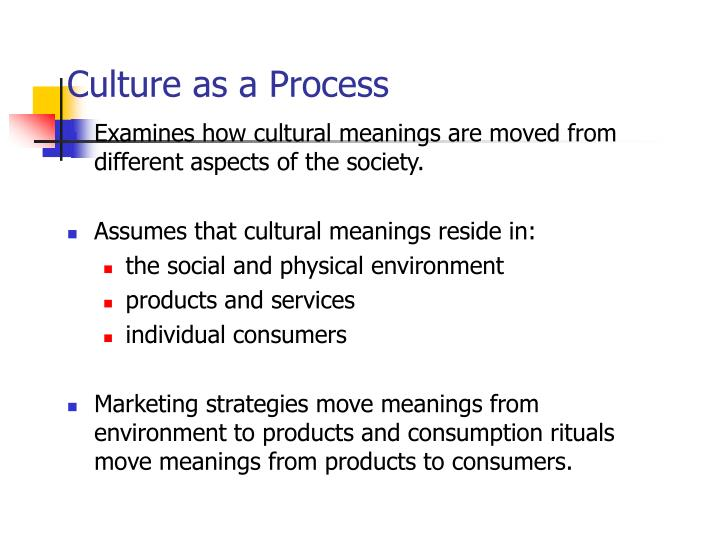Culture as a Process