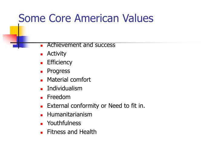 Some Core American Values
