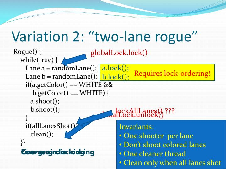 "Variation 2: ""two-lane rogue"""