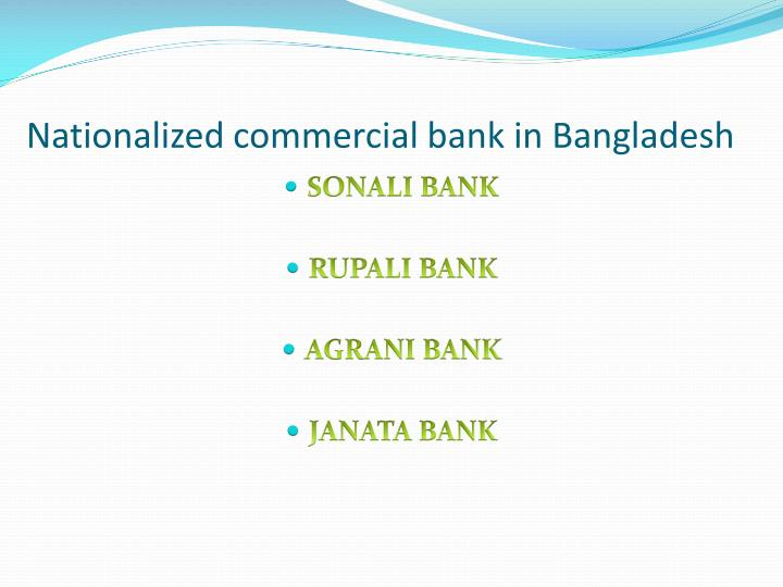 Nationalized commercial bank in bangladesh
